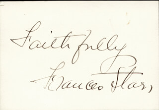 FRANCES STARR - AUTOGRAPH SENTIMENT SIGNED