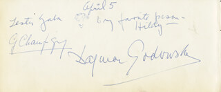 Autographs: LESTER GABA - AUTOGRAPH NOTE SIGNED 04/05 CO-SIGNED BY: DAGMAR GODOWSKY