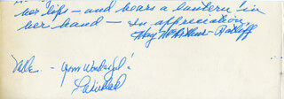MAY McARTHUR-RATLIFF - AUTOGRAPH NOTE SIGNED CO-SIGNED BY: HELEN DREYER, J.C. GEIGER, HAIT SAID, L. WILLARD