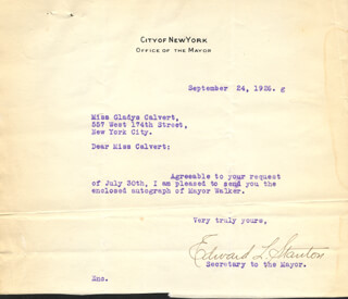 EDWARD L. STANTON - TYPED LETTER SIGNED 09/24/1926