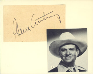 Autographs: GENE AUTRY - SIGNATURE(S)