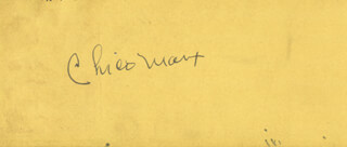 CHICO (LEONARD) MARX - CLIPPED SIGNATURE CO-SIGNED BY: JOHN GARFIELD
