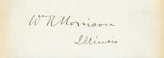 Autographs: WILLIAM RALLS MORRISON - SIGNATURE(S)