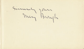 MARY BROUGH - AUTOGRAPH SENTIMENT SIGNED