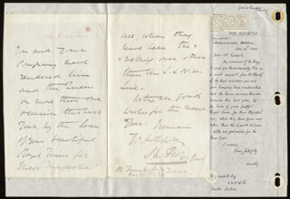 GENERAL DIGHTON PROBYN - AUTOGRAPH LETTER SIGNED