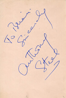 ANTHONY STEEL - AUTOGRAPH NOTE SIGNED
