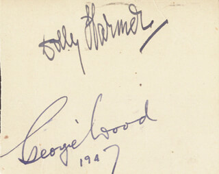 DOLLY HARMER - AUTOGRAPH 1947 CO-SIGNED BY: GEORGIE WOOD