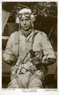 Autographs: BEN H. TURNER - PICTURE POST CARD SIGNED