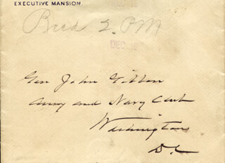 PRESIDENT GROVER CLEVELAND - AUTOGRAPH ENVELOPE UNSIGNED