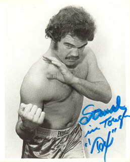 RANDALL TEX COBB - AUTOGRAPHED SIGNED PHOTOGRAPH