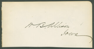WILLIAM B. ALLISON - AUTOGRAPH