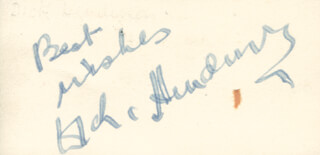DICK HENDERSON - AUTOGRAPH SENTIMENT SIGNED