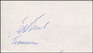 WILLIAM E. BILL BROCK III - AUTOGRAPH CIRCA 1975