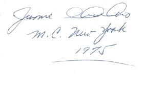 Autographs: JEROME A. AMBRO JR. - SIGNATURE(S) 1975