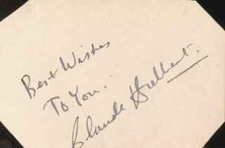 CLAUDE HULBERT - AUTOGRAPH SENTIMENT SIGNED