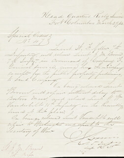 Autographs: BRIGADIER GENERAL GUSTAVUS LOOMIS - MANUSCRIPT DOCUMENT SIGNED 03/29/1862