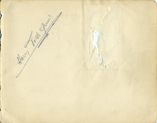 HARRY TATE JR. - AUTOGRAPH