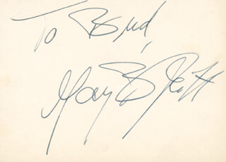 MAY BRITT - INSCRIBED SIGNATURE