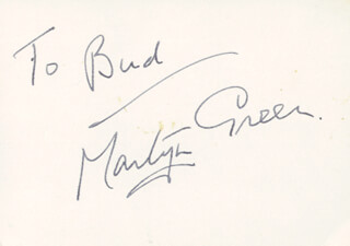 MARTYN GREEN - INSCRIBED SIGNATURE