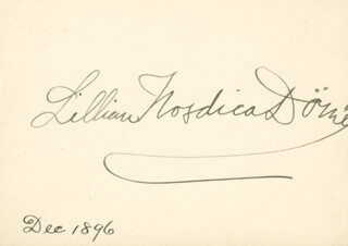 LILLIAN NORDICA - AUTOGRAPH 12/1896