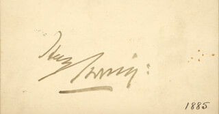 SIR HENRY IRVING - AUTOGRAPH CIRCA 1885