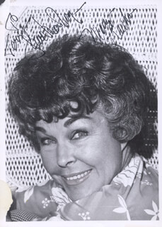 JOAN WOODBURY - AUTOGRAPHED INSCRIBED PHOTOGRAPH