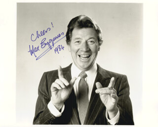 MAX BYGRAVES - AUTOGRAPHED SIGNED PHOTOGRAPH 1984