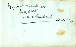 DAME IRENE VANBRUGH - AUTOGRAPH NOTE SIGNED 1919