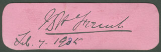 FIELD MARSHAL JOHN DENTON PINKSTONE FRENCH - AUTOGRAPH 02/07/1905