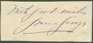 GRACE GEORGE - AUTOGRAPH SENTIMENT SIGNED