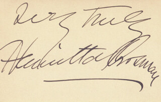 HENRIETTA CROSMAN - AUTOGRAPH SENTIMENT SIGNED