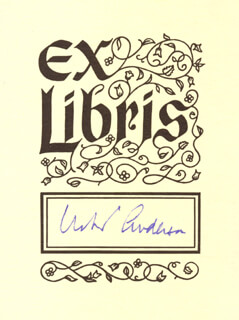ROBERT WOODRUFF ANDERSON - BOOK PLATE SIGNED