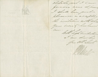 Autographs: WILLIAM WOODS AVERELL - AUTOGRAPH LETTER SIGNED 05/28/1867