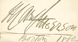 MARY A. ANDERSON - AUTOGRAPH 1880