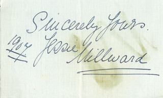 JESSIE MILLWARD - AUTOGRAPH SENTIMENT SIGNED 1907