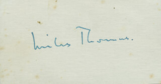 SIR MILES LORD THOMAS OF REMENHAM THOMAS - AUTOGRAPH
