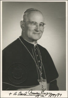 Autographs: CARDINAL ANÍBAL MUÑOZ DUQUE - AUTOGRAPH LETTER ON PHOTOGRAPH SIGNED TWICE