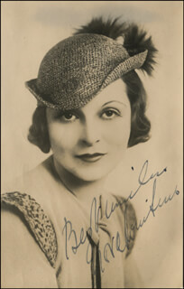 NORA SWINBURNE - AUTOGRAPHED SIGNED PHOTOGRAPH