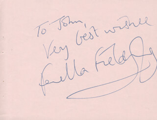 FENELLA FIELDING - AUTOGRAPH NOTE SIGNED CO-SIGNED BY: CATERINA VALENTE