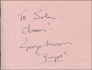 GEORGE MOON - AUTOGRAPH NOTE SIGNED