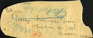 GEORGE FRANCIS TRAIN - AUTOGRAPH 04/03/1900