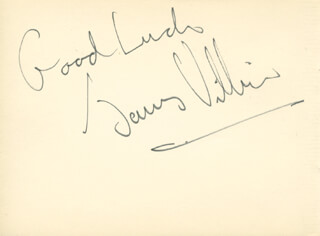 JAMES VILLIERS - AUTOGRAPH SENTIMENT SIGNED CO-SIGNED BY: OLIVER COTTON