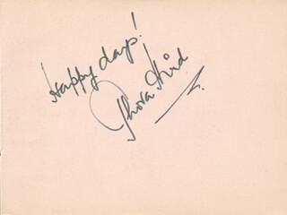 Autographs: THORA HIRD - AUTOGRAPH SENTIMENT SIGNED