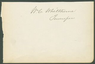GENERAL WASHINGTON C. WHITTHORNE - AUTOGRAPH