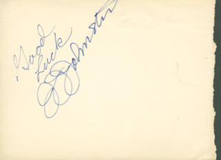 J. J. (JAMES) JOHNSTON - AUTOGRAPH SENTIMENT SIGNED
