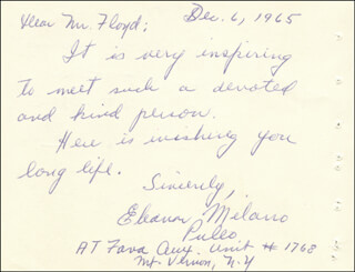 GOLD STAR WIVES - AUTOGRAPH LETTER SIGNED 12/06/1965