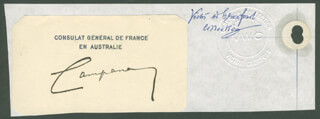 MAURICE CAMPANA - CALLING CARD SIGNED