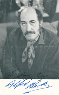 ALFRED MARKS - AUTOGRAPHED INSCRIBED PHOTOGRAPH