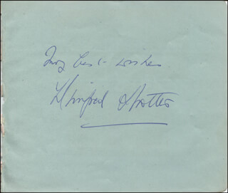 WINIFRED SHOTTER - AUTOGRAPH SENTIMENT SIGNED