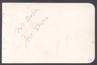 FRED DAVIS - AUTOGRAPH SENTIMENT SIGNED